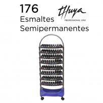 Exhibidor de Esmaltes de 8 Bandejas Completo Con Esmaltes Semipermanentes Thuya