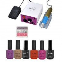 4 Esmaltes Meliné + Base y Top Coat + Torno Practical Drill